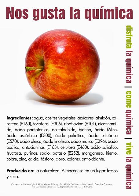 Química manzana productos procesados